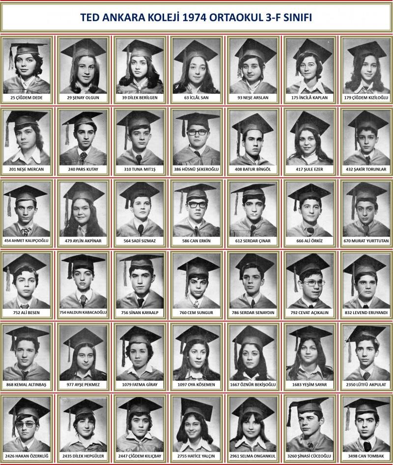 1974 3-F Sınıf toplu beyaz zemin