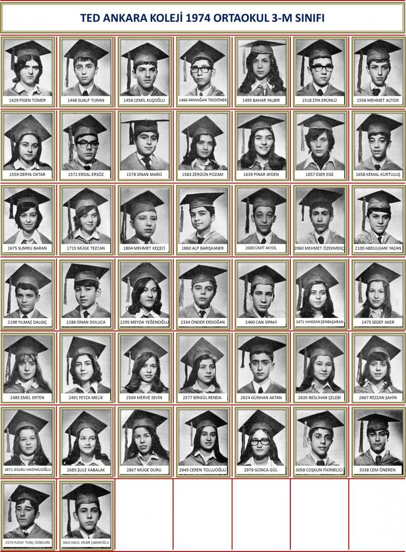 1974 3-M Sınıf toplu beyaz zemin