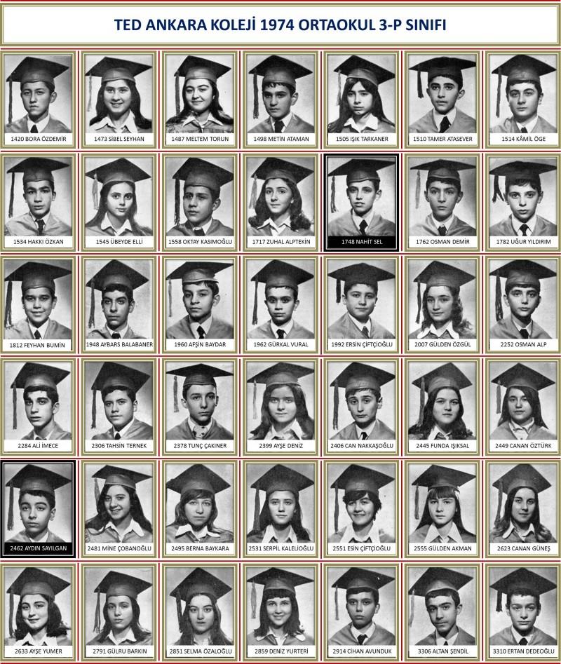 1974 3-P Sınıf toplu beyaz zemin